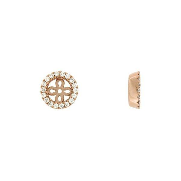 14k Rose Gold Diamond Jacket for Studs