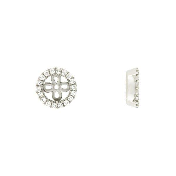 14k White Gold Diamond Jacket for Studs