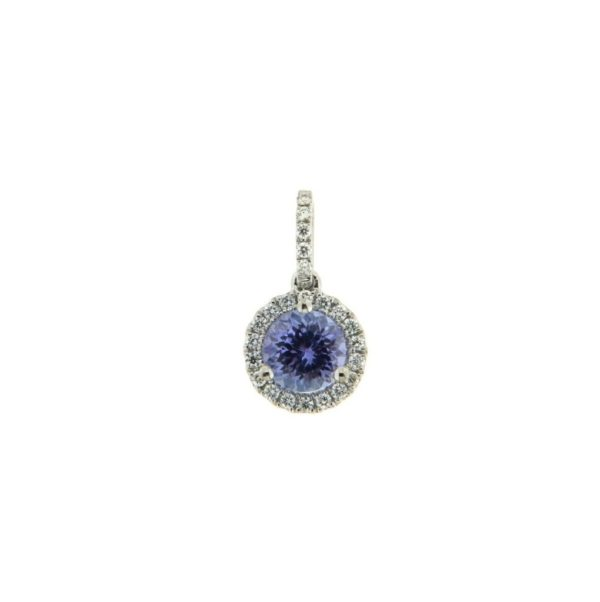 18k Rose Gold Tanzanite & Diamond Pendant