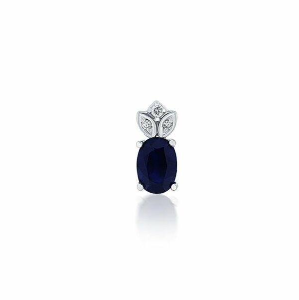 14k Rose Gold Sapphire & Diamond Pendant