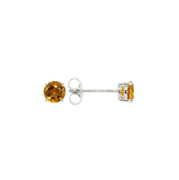 14k White Gold Citrine Earrings