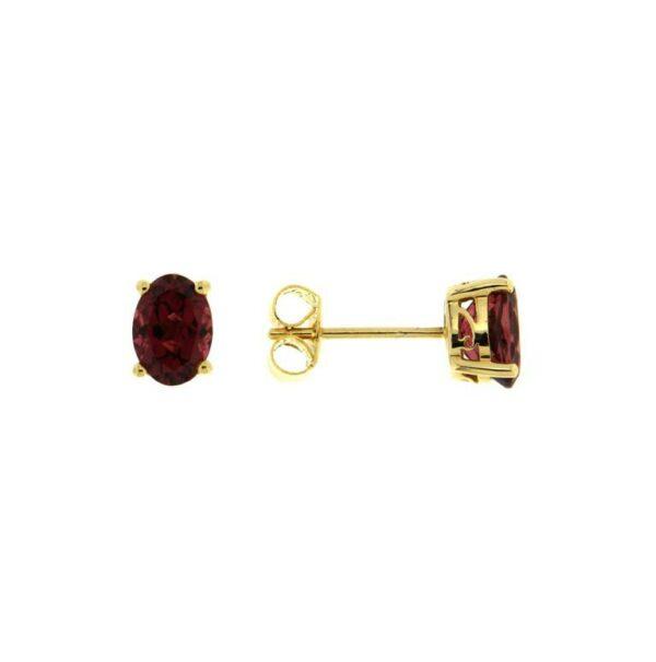 14k Yellow Gold Tourmaline Earrings