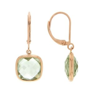 14k Rose Gold Quartz Earrings