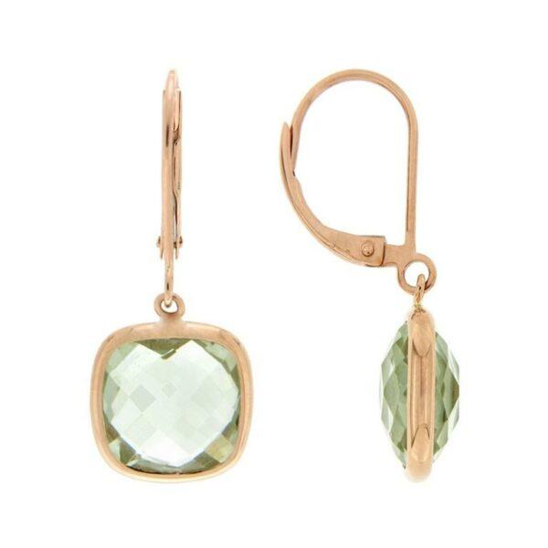 14k Rose Gold Quartz Earrings