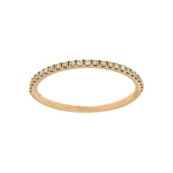 18k Rose Gold Diamond Ring